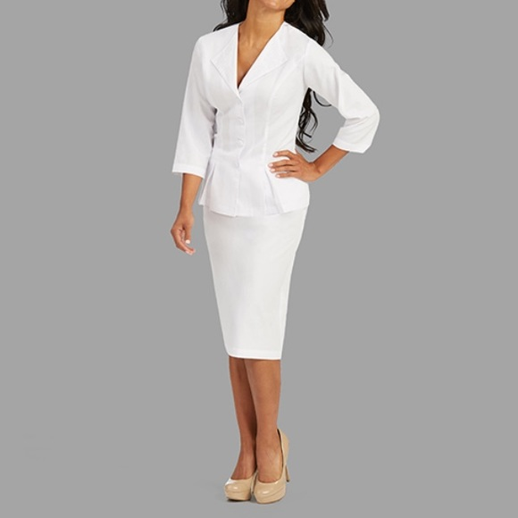 Nurse White Scrub Dress Uniform NWT